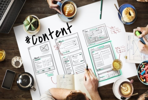 Writing text content for each website page.