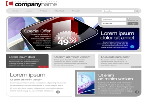 Screenshot of WordPress website design theme.