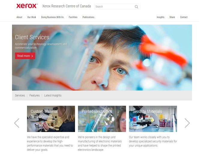 Xerox Research Centre of Canada web design