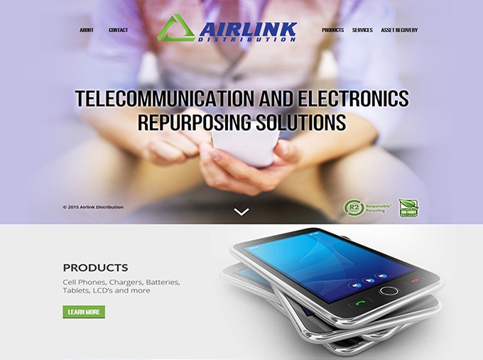 The Airlink Distribution website design