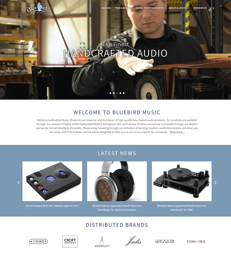 Bluebird Music electronic website design