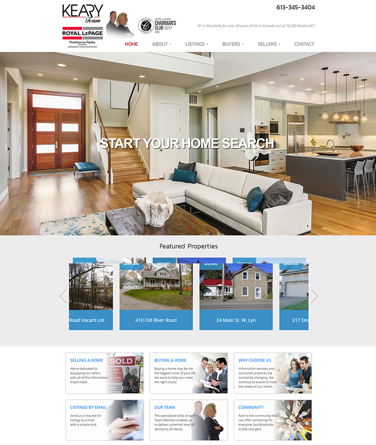 The Keary Team web design