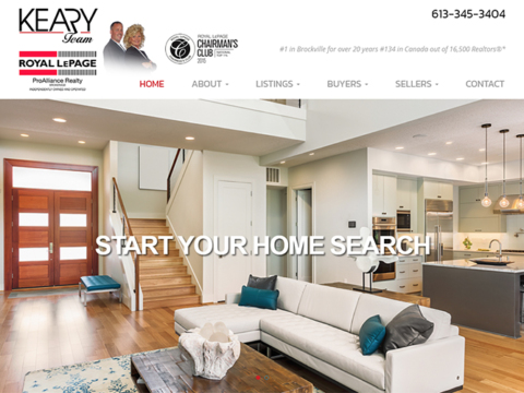 The Keary Team realtor web design