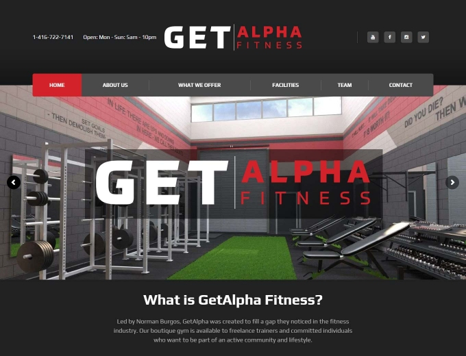 A glimpse inside the GET Alpha Fitness gym in Aurora