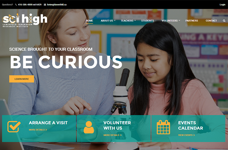 The ScI High website was designed using a WordPress Theme.