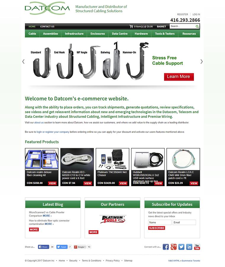 Datcom INC website design