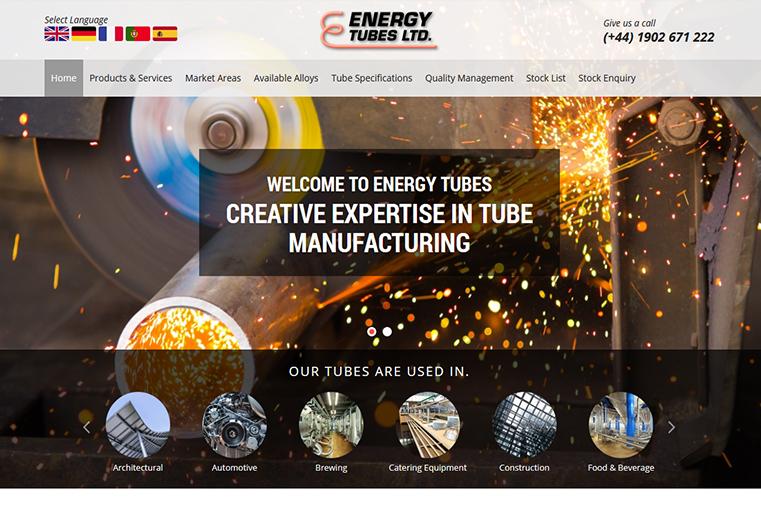The Energy Tube website design