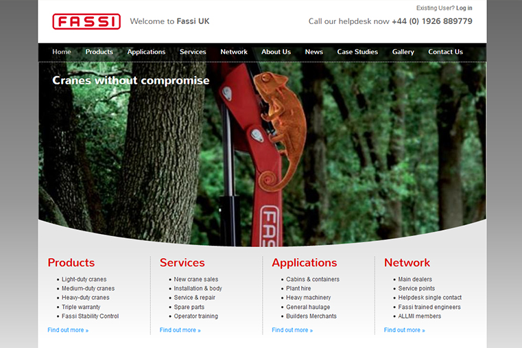 Fassi Website Design Layout