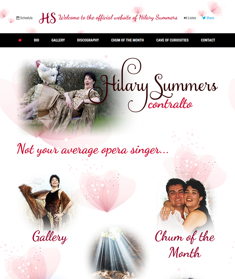 The Hilary Summers web design