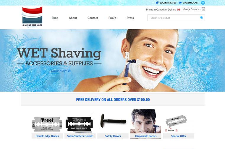 The Ice Global e-commerce web design