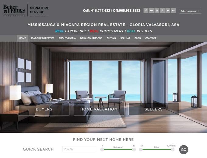 The Gloria Valvasori realtor web design