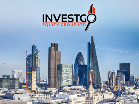 London skyline on Investgo web design home page.