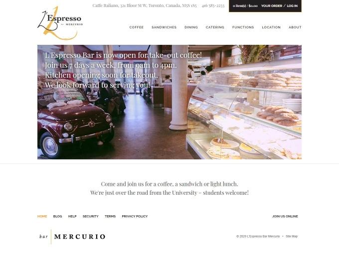 Inside view of the L'Espresso Bar Mercurio