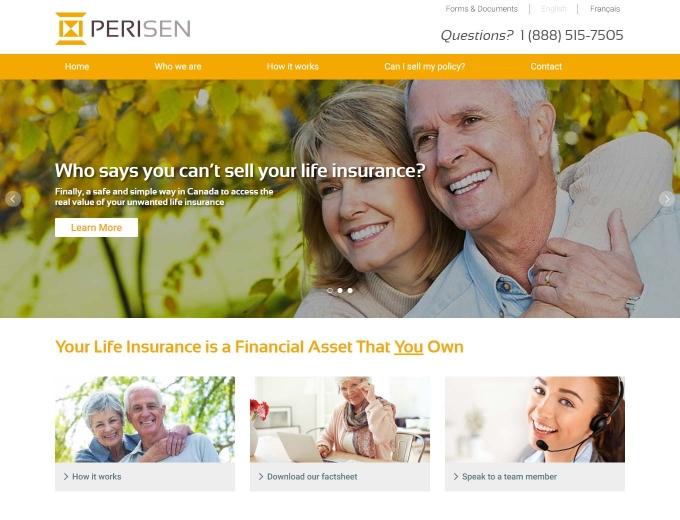 Perisen financial homepage website design