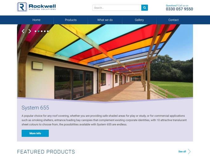 Examples of the sheeting products on the Rockwell home page.