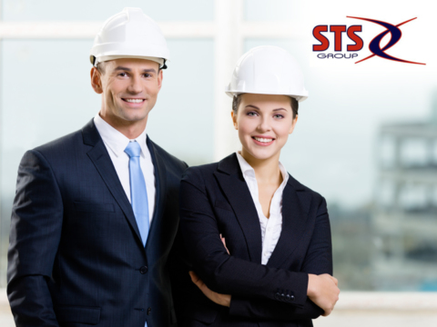 The STS Training Group logo and web design