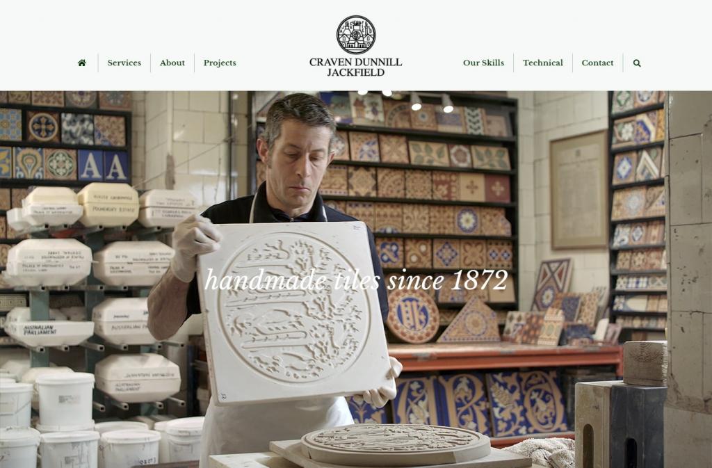 The Craven Dunnill Jackson website design