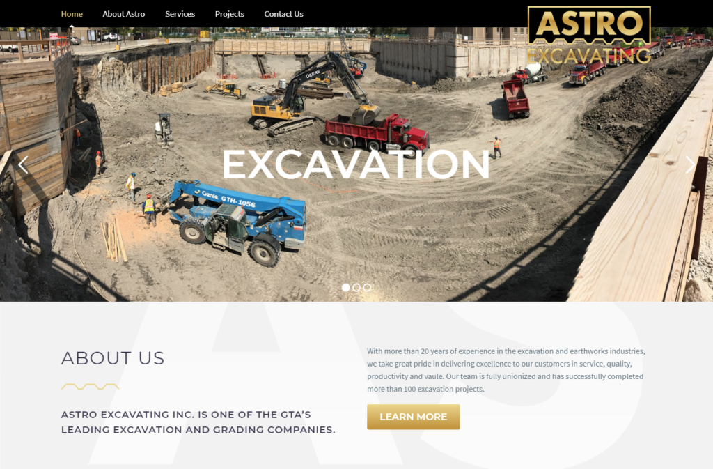 Foundation work shown on Astro website home page.