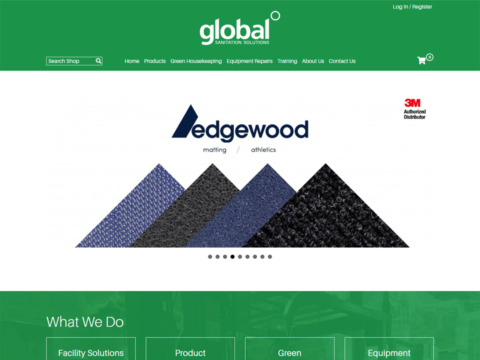 Main product banner on website home page
