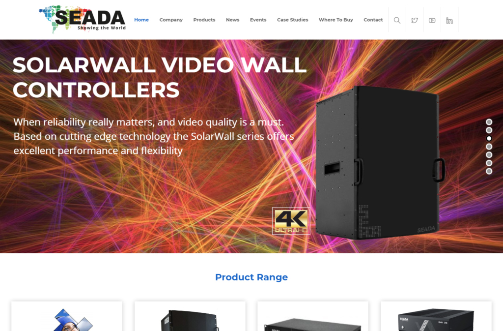 The new highly graphical SEADA web design
