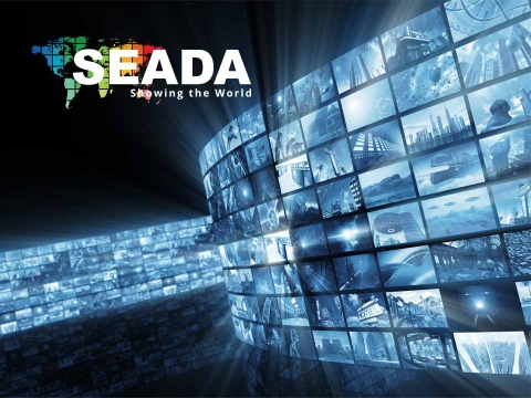 Home page snapshot of SEADA Technology website design