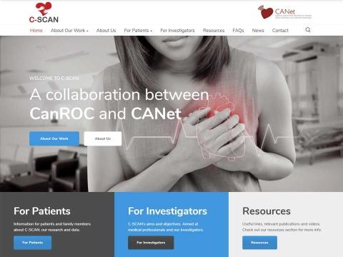 Close-up of the C-SCAN website design