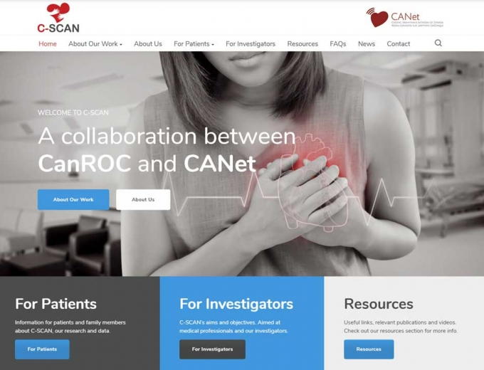 Close-up of the C-SCAN website design