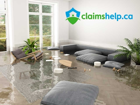 Flooded basement on Claims Help website design home page