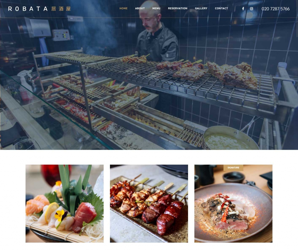 Robata Japanese restaurant in West End London