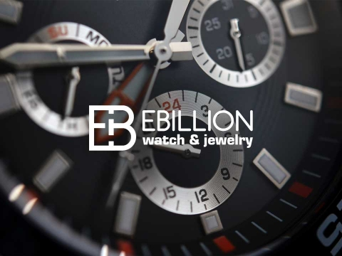 Luxury watch face features on website landing page
