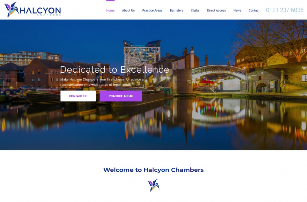 Backdrop of city and canal view on web home page