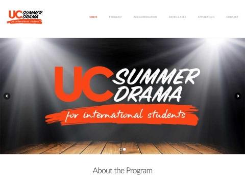 UC Summer Drama web design screenshot