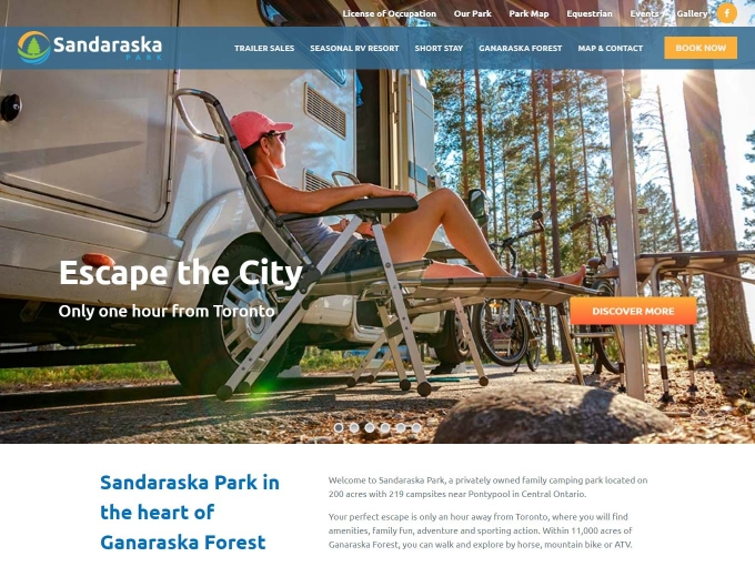 Relaxing in a camp chair in Sandaraska Park