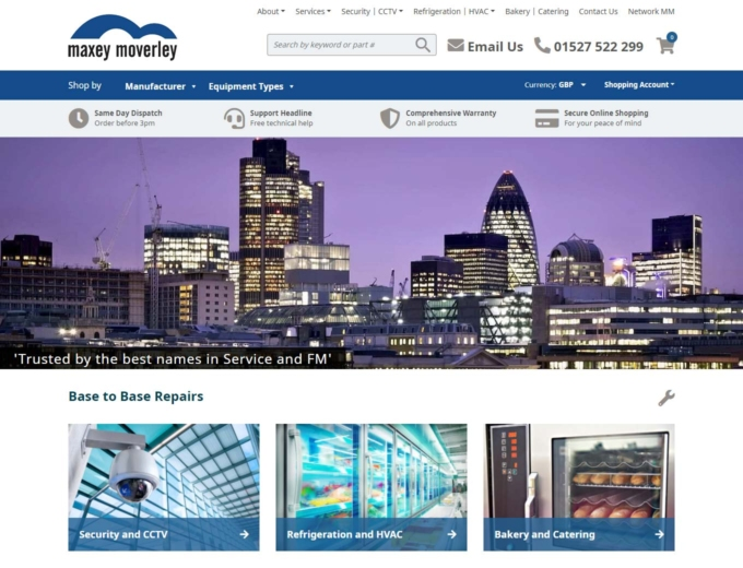 London city skyline at dusk on website home page