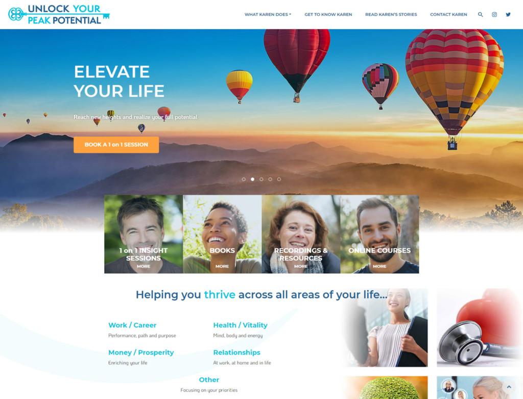 Home page of the Karen Denega website