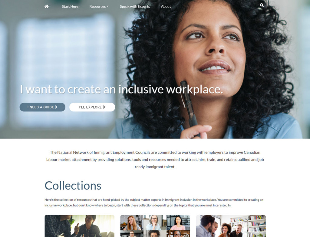 Homepage of IECC Network web design