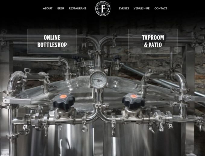 Closeup of Fenelon Falls website design