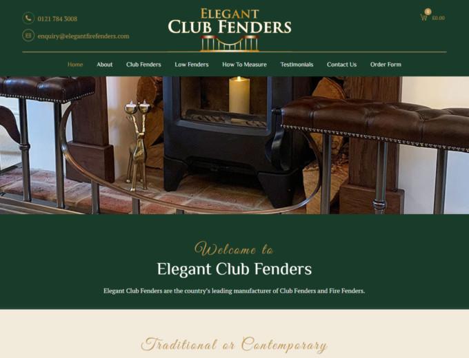 Elegant fire fenders on website home page