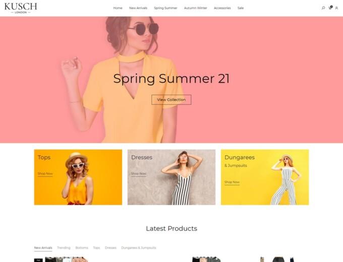 Kusch fashion clothing wholesaler website