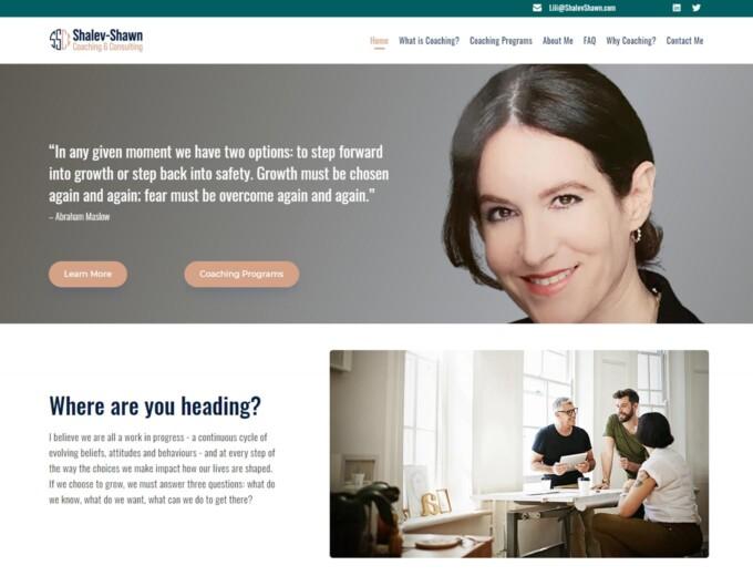 The Shalev-Shawn web design landing page